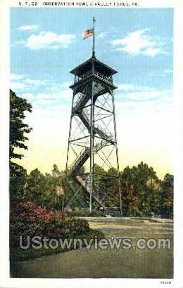 Observation Tower - Valley Forge, Pennsylvania PA Postcard