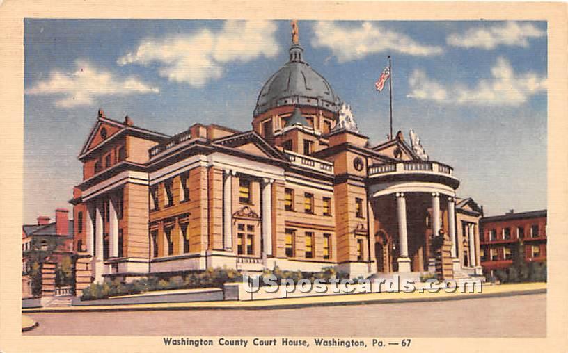 Washington County Court House - Pennsylvania PA Postcard
