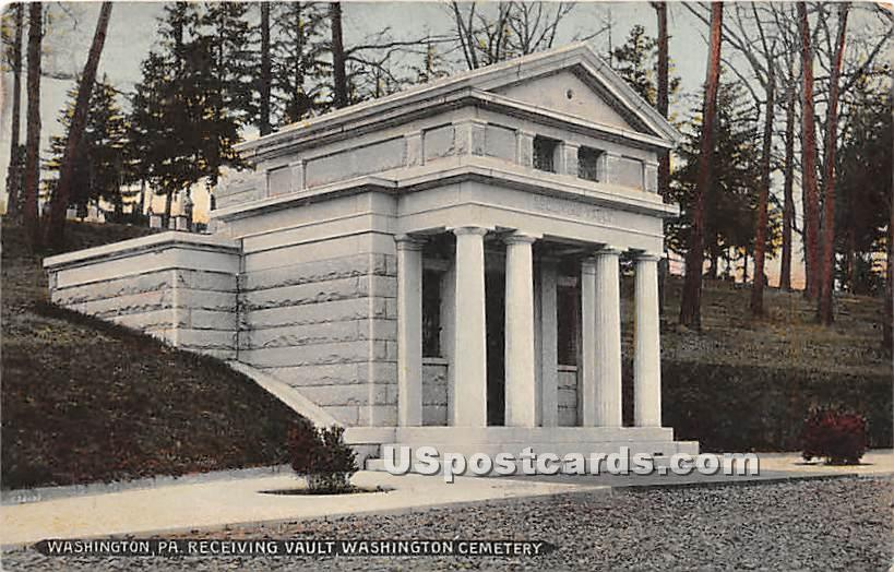 Receiving Vault, Washington Cemetery - Pennsylvania PA Postcard