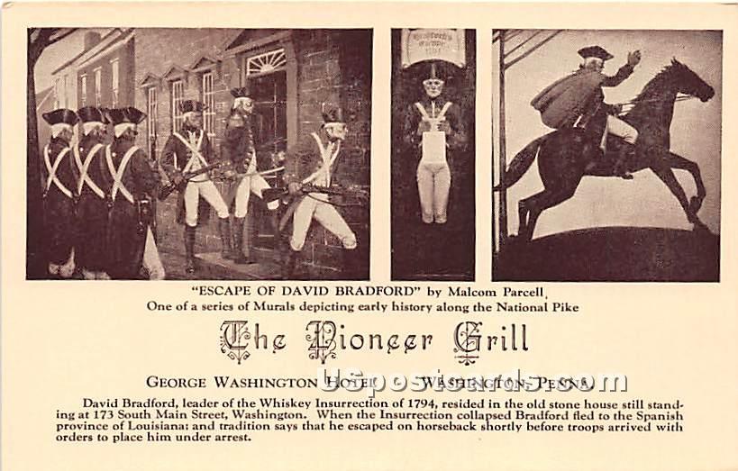 Pioneer Grill, George Washington Hotel - Pennsylvania PA Postcard