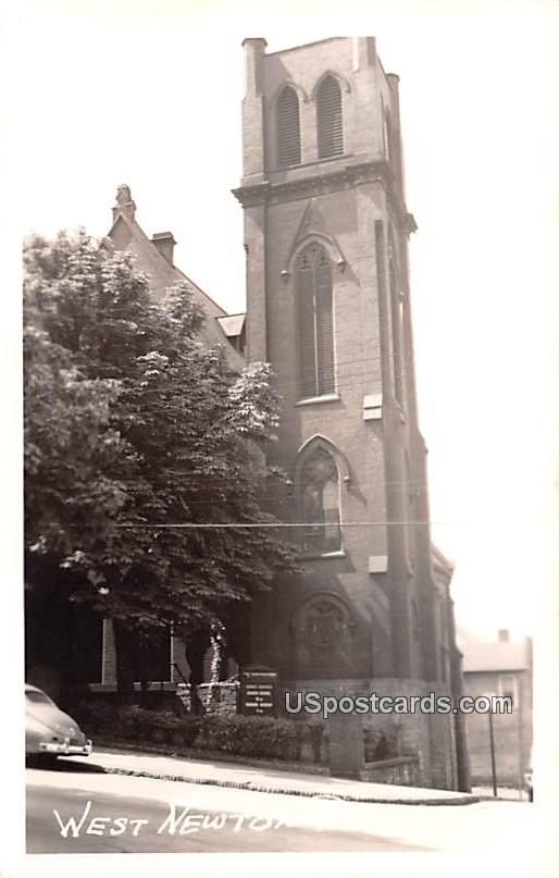 Building Scene - West Newton, Pennsylvania PA Postcard