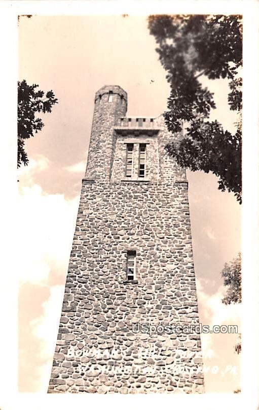 Bowman's Hill Tower - Washington, Pennsylvania PA Postcard