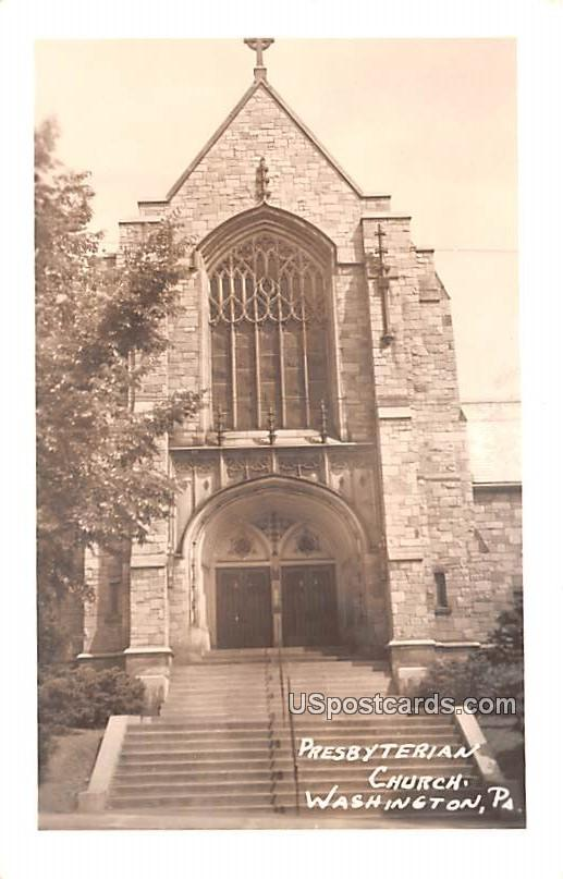 Presbyterian Church - Washington, Pennsylvania PA Postcard