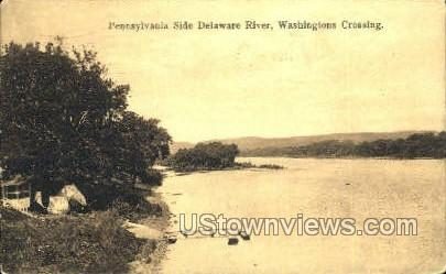 Penn. Side Delaware River - Washington, Pennsylvania PA Postcard