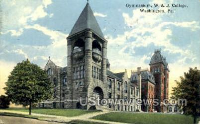 Gym, W & J College - Washington, Pennsylvania PA Postcard