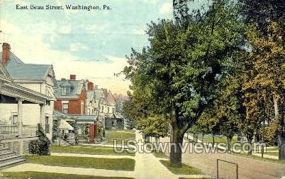 East Beau Street - Washington, Pennsylvania PA Postcard