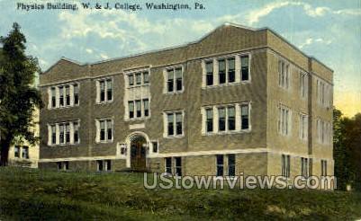 Physics Bldg, W. & J. College - Washington, Pennsylvania PA Postcard