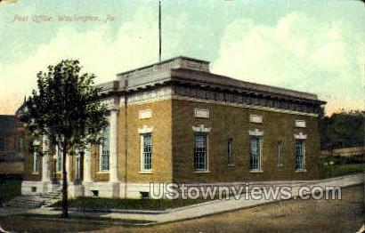 Post Office, Washington - Pennsylvania PA Postcard