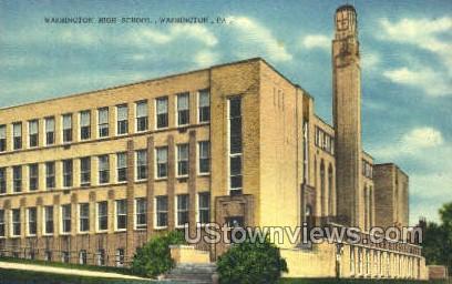 Washington High School - Pennsylvania PA Postcard