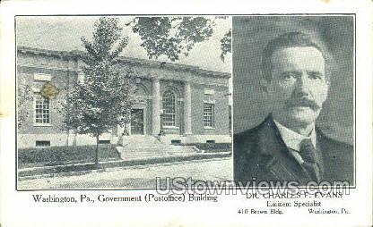Dr. Charles F. Evans - Washington, Pennsylvania PA Postcard