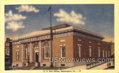 US Post Office, Washington - Pennsylvania PA Postcard
