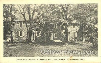 Thompson House, Bowman's Hill - Washington, Pennsylvania PA Postcard