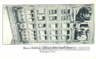 Brown's Dry Goods Store - Washington, Pennsylvania PA Postcard