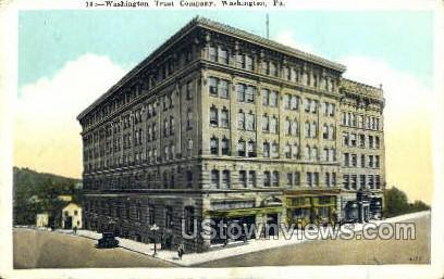 Washington Trust Company - Pennsylvania PA Postcard