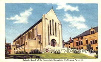 Immaculate Conception - Washington, Pennsylvania PA Postcard