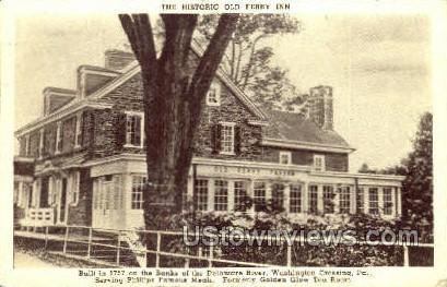 Historic Old Ferry Inn - Washington, Pennsylvania PA Postcard