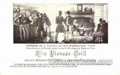 The Pioneer Grill - Washington, Pennsylvania PA Postcard
