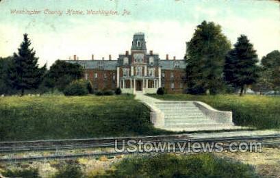 Washington County Home - Pennsylvania PA Postcard