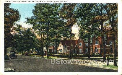 Third Ave., Penn Ave. - Warren, Pennsylvania PA Postcard