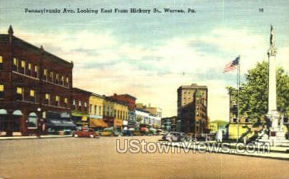 Penn. Ave., Hickory St.  - Warren, Pennsylvania PA Postcard