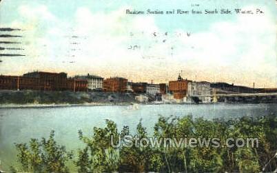 Business Section - Warren, Pennsylvania PA Postcard