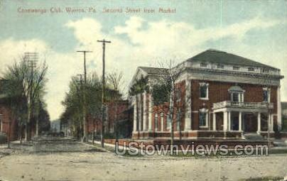 Conewango Club - Warren, Pennsylvania PA Postcard