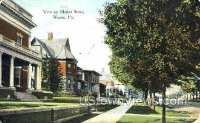 Market Street - Warren, Pennsylvania PA Postcard