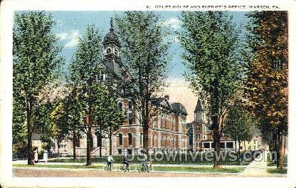 Court House & Sheriff's Office - Warren, Pennsylvania PA Postcard