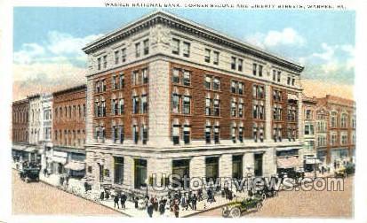 Warren National Bank - Pennsylvania PA Postcard
