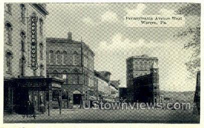 Penn. Ave. West - Warren, Pennsylvania PA Postcard