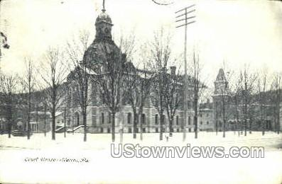 Court House, Warren - Pennsylvania PA Postcard