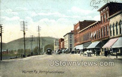 Penn. Ave. - Warren, Pennsylvania PA Postcard