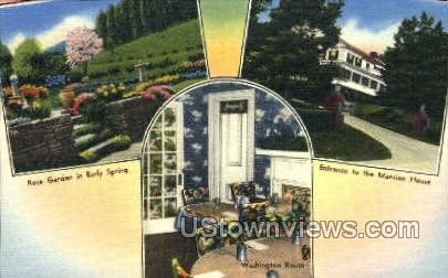 Rose Garden, Mansion House - Washington, Pennsylvania PA Postcard