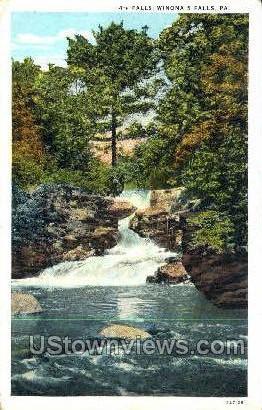 4th Falls - Winona Falls, Pennsylvania PA Postcard