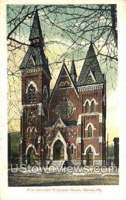 First Methodist Episcopal Church - Warren, Pennsylvania PA Postcard