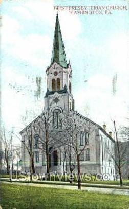 First Presbyterian Church - Washington, Pennsylvania PA Postcard
