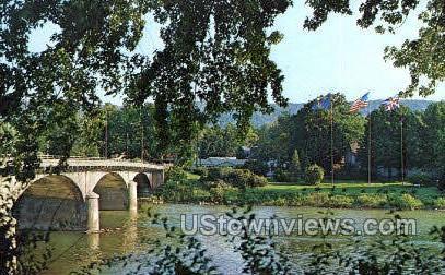 Bridge of Allegheny River - Warren, Pennsylvania PA Postcard