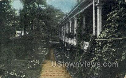 Veranda Lawn, Water Gap House - Delaware Water Gap, Pennsylvania PA Postcard