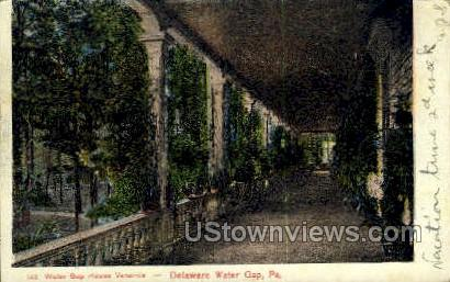 Water Gap House Veranda - Delaware Water Gap, Pennsylvania PA Postcard