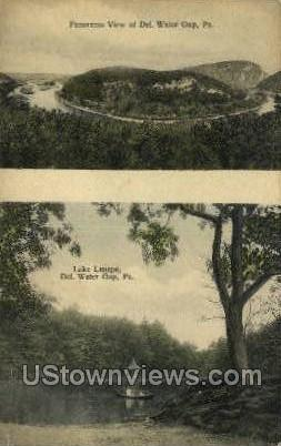 Lake Lenape - Delaware Water Gap, Pennsylvania PA Postcard