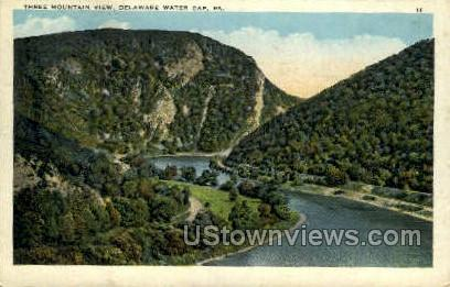 Three Mountain - Delaware Water Gap, Pennsylvania PA Postcard