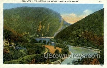 Delaware RIver - Delaware Water Gap, Pennsylvania PA Postcard