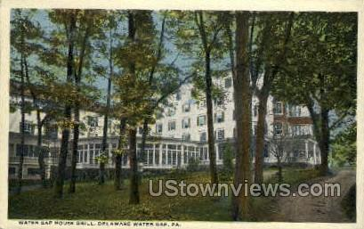 Water Gap House Grill - Delaware Water Gap, Pennsylvania PA Postcard