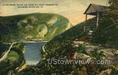 The Thrid Promontory - Delaware Water Gap, Pennsylvania PA Postcard