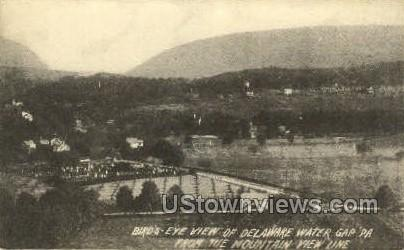Mountain View Line - Delaware Water Gap, Pennsylvania PA Postcard