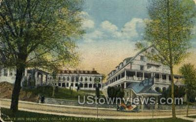 Castle Inn Music Hall - Delaware Water Gap, Pennsylvania PA Postcard