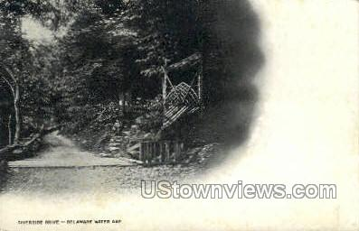 Riverside Drive - Delaware Water Gap, Pennsylvania PA Postcard
