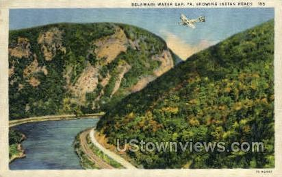 Indian Head - Delaware Water Gap, Pennsylvania PA Postcard
