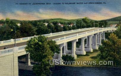 Viaduct on Lackawanna Trail - Delaware Water Gap, Pennsylvania PA Postcard