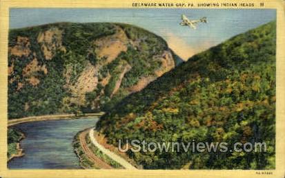 Indian Head - Delaware Water Gap, Pennsylvania PA Postcard